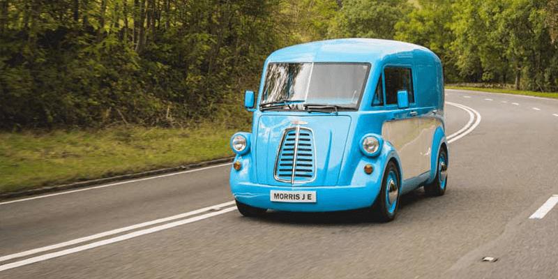 The Morris Commercial, Morris JE, Driving, Electric Car